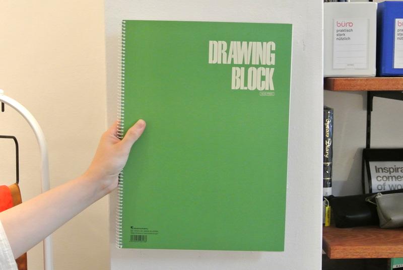 手提げに入れたい大きなサイズのスケッチブック「DRAWING BLOCK」