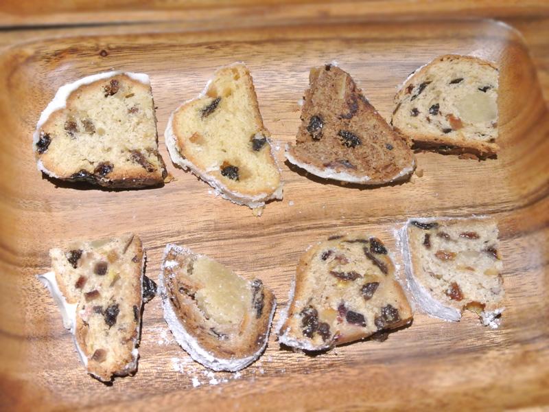 グロワール×パンヲカタル×PAINLOT〈シュトーレンを楽しむひととき〉at マチカフェでの食べ比べ