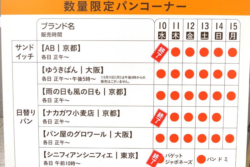 京都伊勢丹「第3回パンフェスティバル〜コーヒーのある暮らし〜」数量限定コーナー